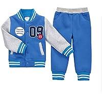 CuteOn Bambini delle Ragazze dei Ragazzi Manica Lunga Baseball Tuta Giacca + Pantalone del Vestito di sport Outfits Set Età 1-5 Anni