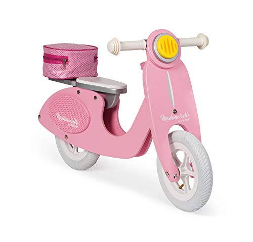 Janod - J03239 - Draisienne Scooter Rose Mademoiselle (bois)