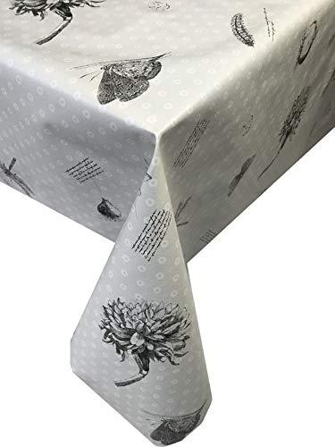 Sanem Tischdecke aus PVC/Vinyl, abwischbar, Schmetterlingsmotiv, 200X140cm, (78x55 inch)