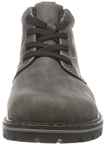 Rieker 37700 Herren Kurzschaft Stiefel Grau (basalt/schwarz / 46)