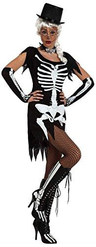 Atosa-35288 Disfraz Esqueleto Para Mujer Adulto Color negro Xl (35288