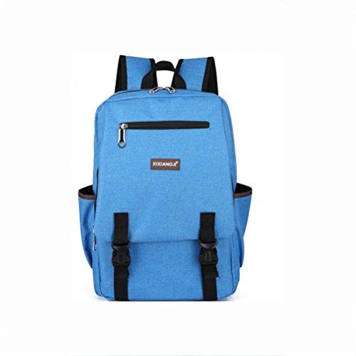 """Zaino leggero Moda Zaini del computer portatile, fino a 15 """" Attività commerciale Resistente all'acqua Daypack , black light blue"""