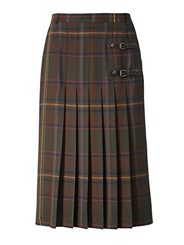 Damen Faltenrock charakteristisch im schottischen Stil by MONA oliv-braun-senf