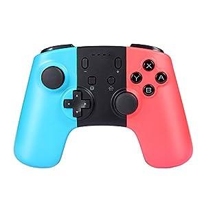 Prous Wireless Pro Game Controller für Nintendo Switch, SW07 Bluetooth Gamepad Joypad Remote für Nintendo Switch Konsole unterstützt Gyro Axis und Dual Vibration – Blau & Rot Dritteranbieter Produkt
