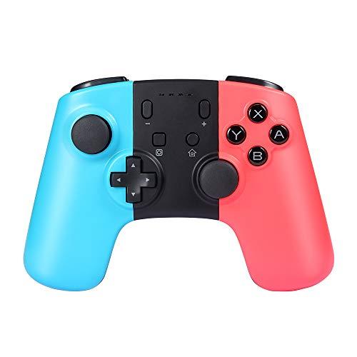 Prous Wireless Pro Game Controller für Nintendo Switch, SW07 Bluetooth Gamepad Joypad Remote für Nintendo Switch Konsole unterstützt Gyro Axis und Dual Vibration - Blau & Rot Dritteranbieter Produkt
