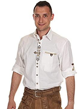 Orbis Herren Hemd Trachtenhemd mit Krempelarm 20004-3334 1 Regular Fit