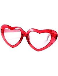 Alsino XXL super große Glitzer Herzen-Funbrille Spaßbrille 24