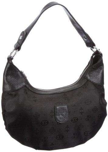 Poodlebags Club - united - Frejus 3CL0912FREJB, Borsa a spalla donna, 33 x 8 x 20 cm (L x A x P) Nero (Schwarz (black))