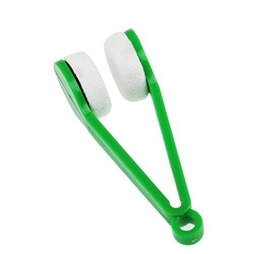 Tinksky Magische Brille Brillen Microfiber Cleaner Pinsel Reinigungs-Tool (zufällige Farbe)