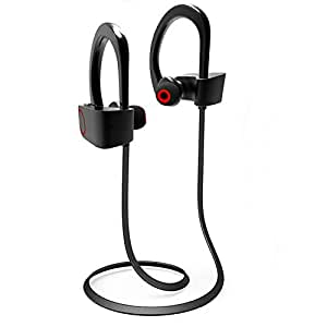 Acid Eye 4.1 Waterproof Wireless Bluetooth Earphones with Mic. Excite Deep Bass Bluetooth Headphone (Black)