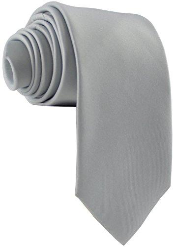 ADAMANT Herren Krawatte Klassische Form Hellgrau 7cm Breit