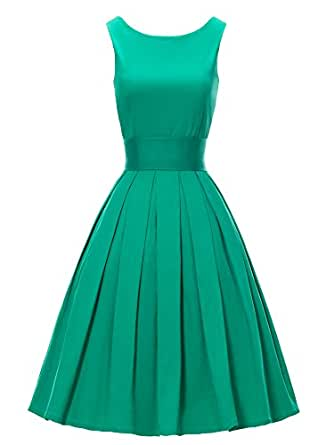 LUOUSE &39Lana&39 Vintage 1950&39s Inspired Swing Evening Dress: Amazon ...