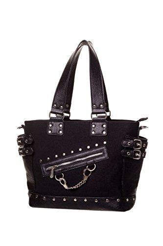 Gebannt Handschellen Handtasche - Schwarz oder Striped - Black / One Size
