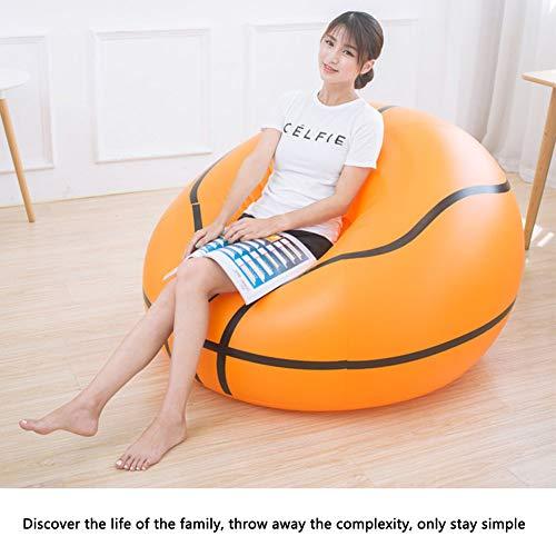 Yuebaobei poltrona reclinabile gonfiabile/divano gonfiabile portatile impermeabile a forma di pallone da calcio amaca da basket, molto adatto per poltrone da interno ed esterno,a