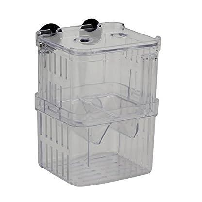 Pinzhi Clear Aquarium Fish Breeding Divider Tank Box Isolation Hanging Breeder Incubator 1
