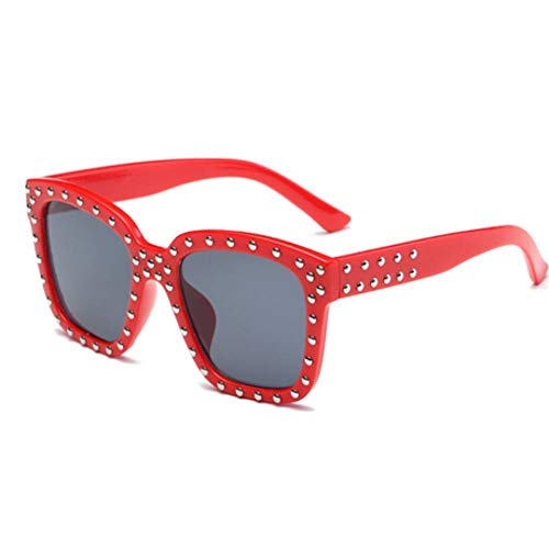 GAOHAITAO Kids Sunglasses Children Girls Sun Glasses Flowers Frame Uv400 Mirror Eyewear,Red