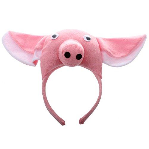 (Schwein Kopfband - TOOGOO(R)3D Schwein Kopfband Tier Bauernhof Erwachsene Kinder Maske Kostuem Maskenball)