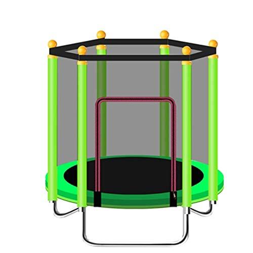 Skiout Faltbar 47 inch Garten Trampolin für Kinder und Erwachsene, Gartentrampolin mit Sicherheitsnetz,Kindertrampolin Bis 400kg,Trampolin für Jumping Fitness,Green