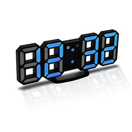 """Características del producto: Tamaño: 8.71cm x 21.49cm / 3.43"""" x 8.46"""" Color : Black Shell White Digital Pantalla : Gran pantalla de luz LED 8D  Función: Gran pantalla para la visualización de las horas  Función de alarma  Funciónnooze (5-60minutes) ..."""