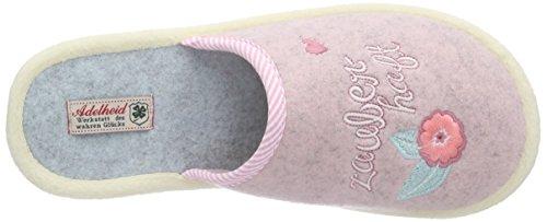 Pantoffeln Filzpantoffel 613 Adelheid puderrosa Damen Pink Zauberhaft qtSSYv