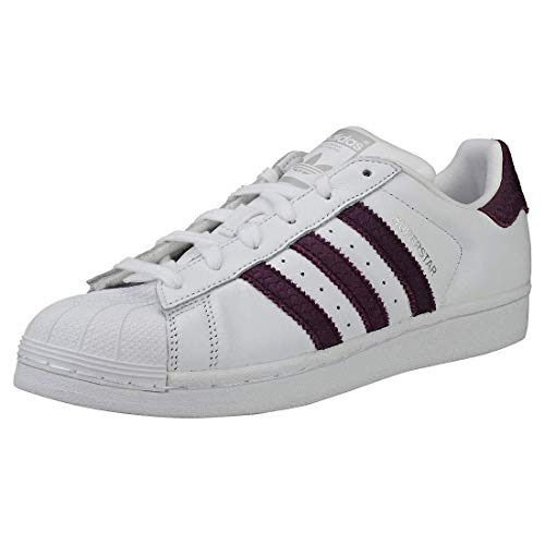 Adidas Superstar W, Chaussures de Fitness Femme, Blanc (Ftwbla Rojnoc Plamet ffa300f037be