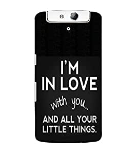 ColourCraft Quotes Back Case Cover for OPPO N1