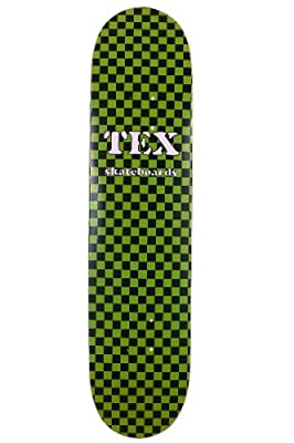 Skateboard Deck TEX green blk checker 7,5