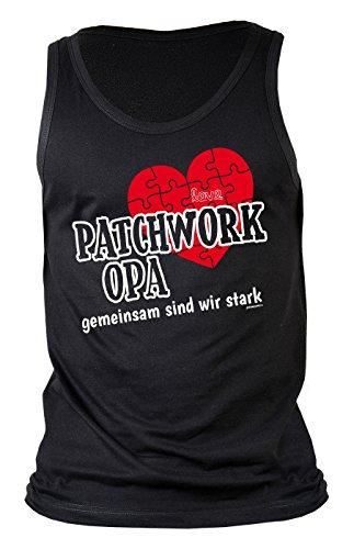 Opa-Top/Männer-Träger-Shirt/Sprüche Tank Top: Patchwork Opa gemeinsam sind wir stark Geschenkidee/Geburtstag Schwarz