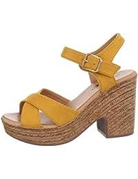 6a42d6a8e8badc Ital-Design Damenschuhe Sandalen   Sandaletten High Heel Sandaletten