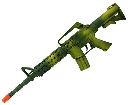 DOPPELPACK M4 Green Weapon XXL Rattergewehr Spielzeuggewehr Spielzeug Gewehr mit RATTER-SOUND 46cm (Spielzeug Gewehr Black Ops)