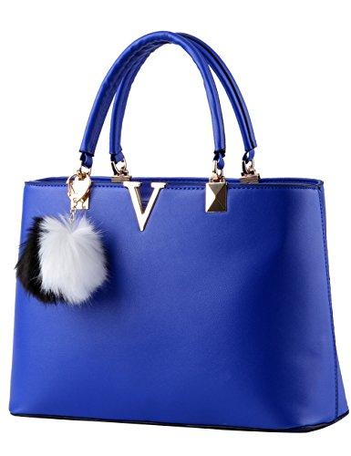 Menschwear Damen Handtasche Marken Handtaschen Elegant Taschen Shopper Reissverschluss Frauen Handtaschen Schwarz Sky-Blau