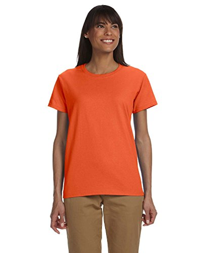 Gildan Damen 200L Ultra Baumwolle T-Shirt aus 100% Baumwolle Orange - Orange