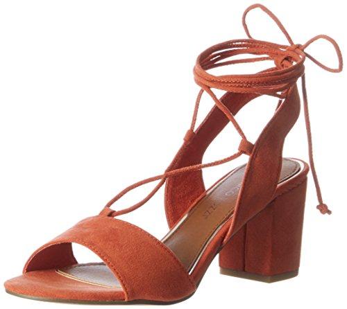 Marco Tozzi 28309, Sandales Bout Ouvert Femme Orange (Orange 606)