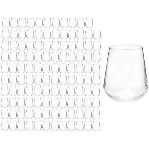 120er Set Bicchieri Acqua Succo vetro medium inalto 45cl in erstklassigem cristallo, migliore resistenza alla rottura, design in filigrana