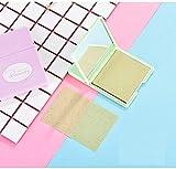 Práctico Hojas de papel secantes finas del aceite que borran los papeles del maquillaje para absorben al instante el exceso de aceite y el brillo de la cara con un espejo FGVBHTR