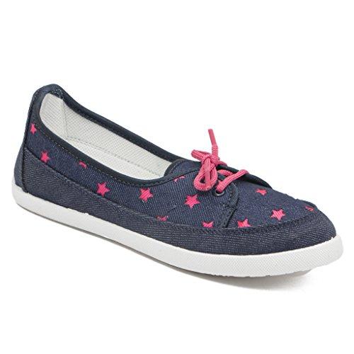 Asian-shoes-LR-71-Navy-Blue-Pink-Canvas-Women-Shoes