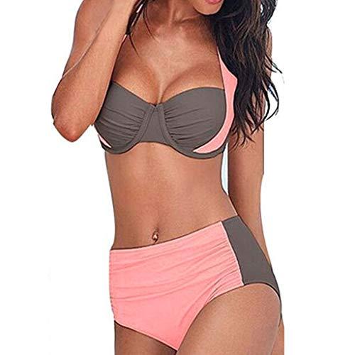 Baiomawzh Badeanzug Damen Bikini Set Push Up Sexy V Ausschnitt High Waist Geteilter Bademode Zweiteilige Mehrfarbig Kreuz Mode Design UV Schutz Und Pacrate Beachwear -