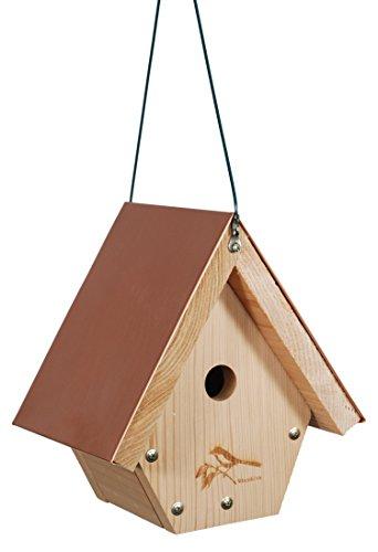 WoodLink Wren House Cedar Bird House with Copper Roof