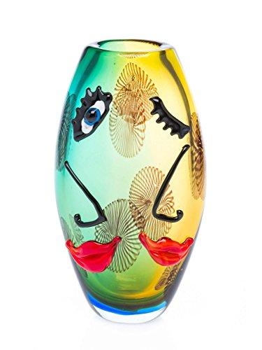 Decorative Table Vase - Face Design - Italian Murano Style - Glass