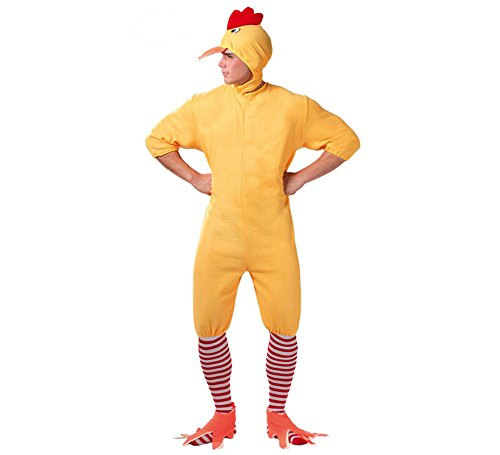 Zzcostumes Costume giallo pulcino per un uomo