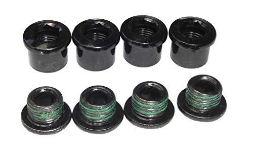 Sram Truvativ Kettenblattschrauben 4 Stück Stahl für Isoflow SS/5D Firex Stylo SS Kettenblätter, schwarz, 4