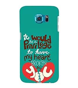 Heart Broken 3D Hard Polycarbonate Designer Back Case Cover for Samsung Galaxy S6 :: Samsung Galaxy S6 G920