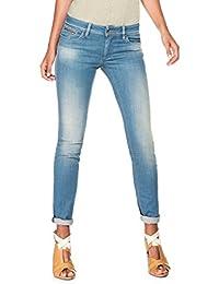 8c41c98ebe50f ... Wonder de couleur et slim - Femme · EUR 79,90 · Salsa - Jeans Push Up  avec taches d usure et détail en simili cuir -