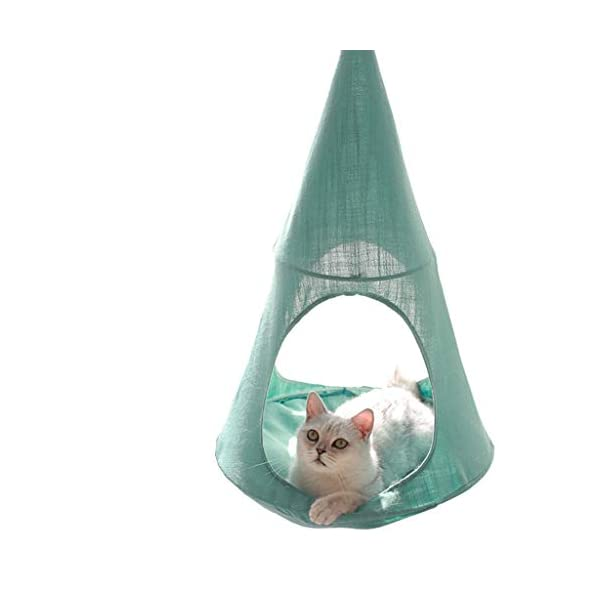 Cat Hammock, Window Sill Hanging Cat Bed Pet Cat Nest, Pet Hammock Hanging Seat, Save Space, Suitable for Household Detachable and Washable,B SJY Durable and Comfortable - According to the cat's favorite, our cat hammock is made of safe, non-toxic, scratch-resistant, bite and elastic materials. It won't hurt your cat, it suits all seasons, providing comfort and safety for your cat to sleep in the warm sun. Intimate Design - The cat hammock gives your cat a high position. Sleep leisurely on top, enjoy the sun, the weather and the natural landscape, a wonderful day! Even in winter, the warm bed will be perfect. Space Saving - The cat hammock provides a safe and comfortable sun hammock seat for your cat. Your cat can jump into this rest seat. The cat bed remains stable, which will save you the position and provide your cat with a safe and comfortable hammock . 1