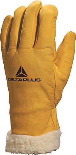 Delta Plus fbf15Vacchetta Grain foderato Guanti da lavoro guanti in pile Yellow 10