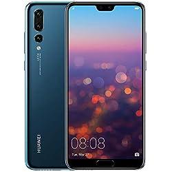 Huawei P20 Pro Smartphone débloqué 4G (6,1 pouces - 128 Go/6 Go - Single SIM - Android) Bleu [Version européenne]