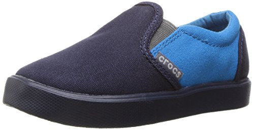 crocs CitiLane Slip-on Sneaker, Unisex-Kinder Sneakers, Blau (Navy/Ocean 49T), 29/30 EU