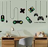 xlei Niños Lindos Sala de Juegos Vinilo Tatuajes de Pared Me encantan los Juegos Versión Letras Palabra Gamepad Gamer Mural Etiqueta de la Pared Dormitorio Decoration50x70cm