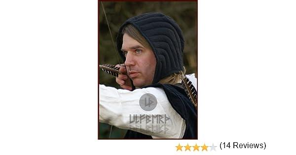 Nero ULFBERTH Imbottita in vita Campana imbottita Unterziehaube per casco e catene campana e guarda tecmil e senza tecmil