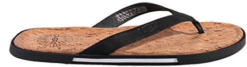 Ugg Australia Men's Bennison Ii Cork Man's Black Flip Flops In Size 40.5 Black